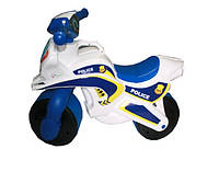 Мотоцикл Doloni-toys МотоБайк Полиция (музыкальная) белый  (0139/51)