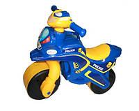 Мотоцикл Doloni-toys Байк Полиция (музыкальная) синий с желтым (0139/57)