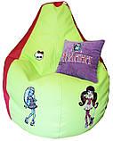 Безкаркасне крісло-пуф груша мішок МОНСТЕР ХАЙ для дітей пуфики ігрова меблі, фото 4