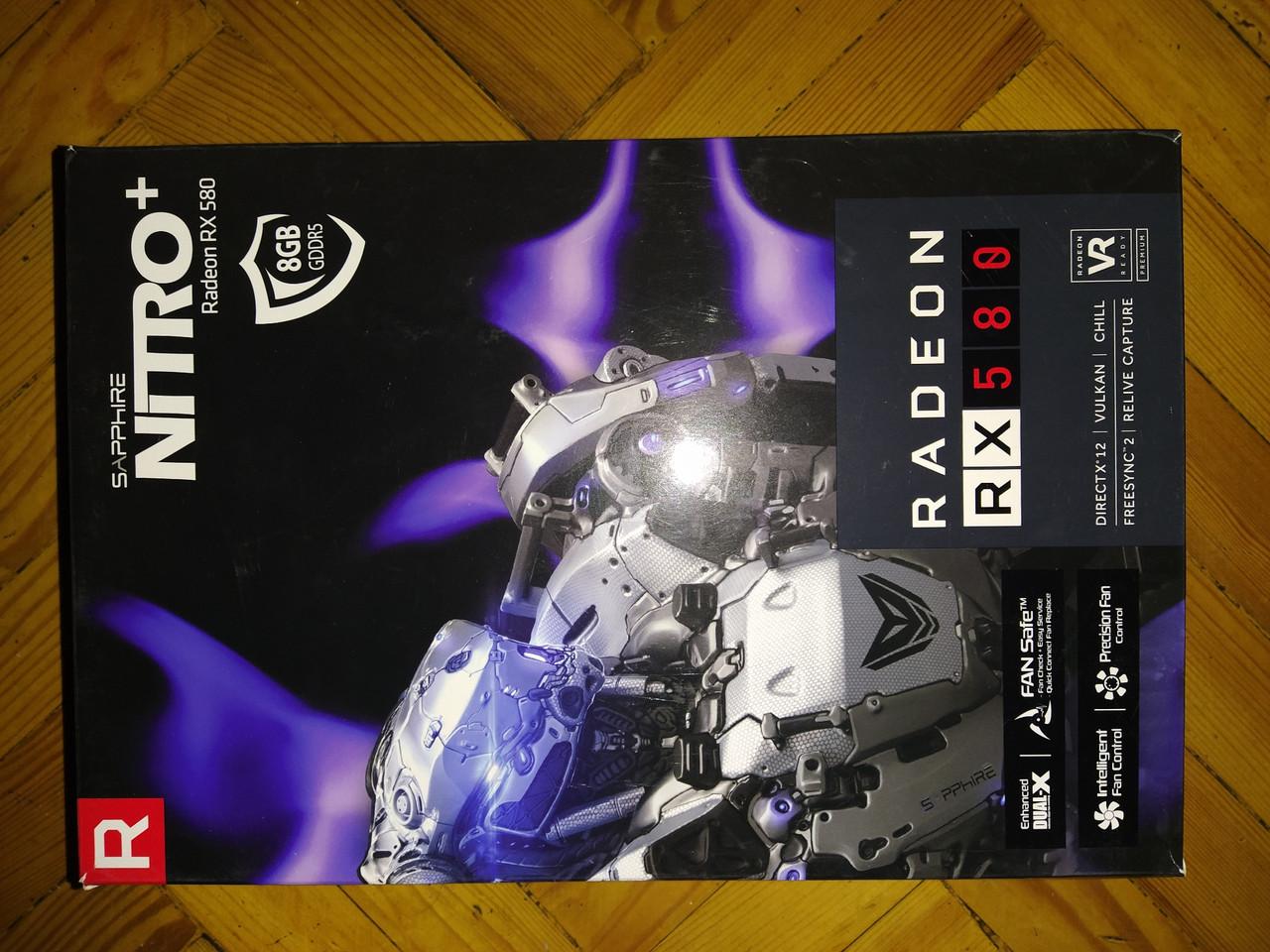 AMD rx580 Sapphire Nitro + б.у.
