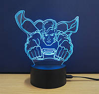 Ночник 3D Kronos Top Superman stet875, КОД: 943805