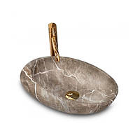 Умывальник Rea Roxy 49 30.7 x 48.6 см B Stone nature Коричневый hubwWdS96642, КОД: 1453807