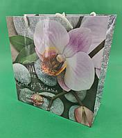 Пакет бумажный подарочный квадратный ы 23*24*10(артKV-002) (12 шт)