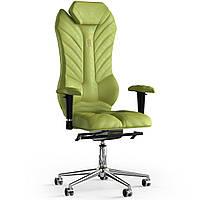 Кресло KULIK SYSTEM MONARCH Антара с подголовником со строчкой Оливковый 2-901-WS-MC-0303, КОД: 1668900