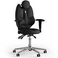 Кресло KULIK SYSTEM TRIO Экокожа с подголовником без строчки Черный 14-901-BS-MC-0201, КОД: 1676904