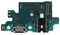 Нижняя плата Samsung Galaxy A40 2019 A405F с разъемом зарядки наушников и микрофоном Original