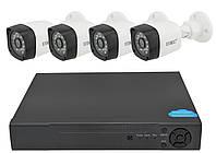 Комплект видеонаблюдения UKC D001-4CH Full HD 1080P 3.6 мм 2 mp (4 камеры) (3263)