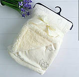 Детский велюровый плед на овчине двухсторонний теплый  80*105 см на вешалке, фото 2