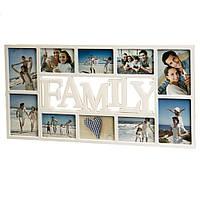 """Фотоколлаж """"Family"""" прямоугольник 73x38x2,5см (2004-006)"""