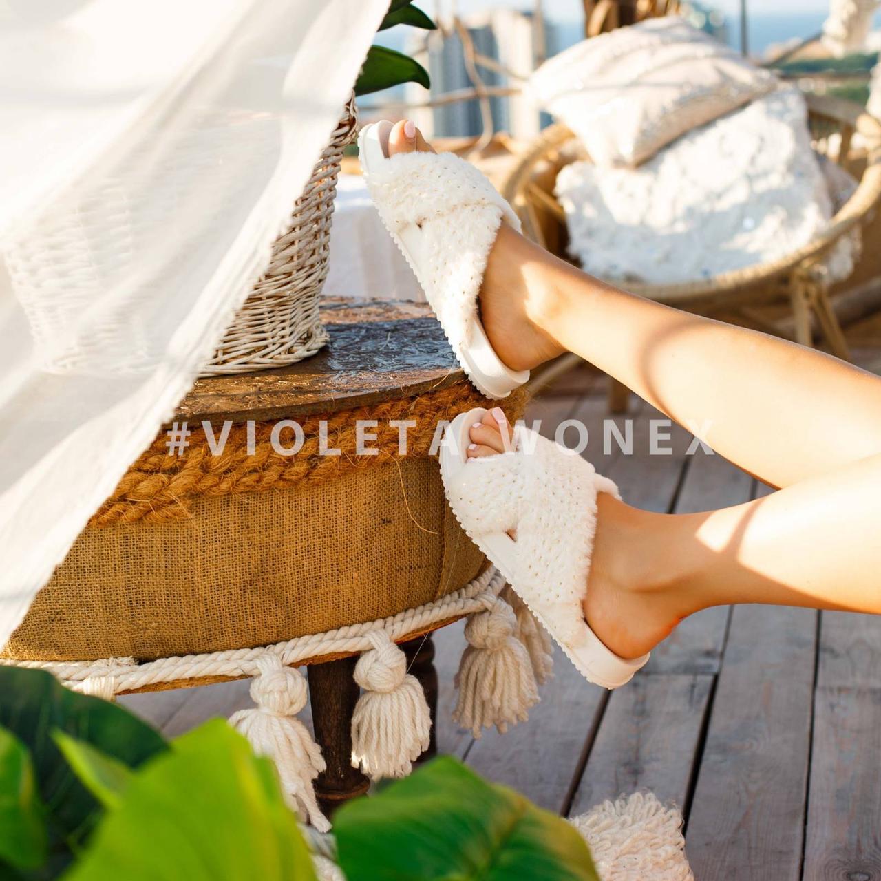 Шлепанцы Violeta 8-283 white