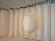 Надувная ванночка детская переносная портативная ванна с ножным насосом и подушкой, синяя (настоящие фото), фото 3