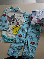 Комплект боді та штани на ріст 68-74,74-80, 86-92, 98-104