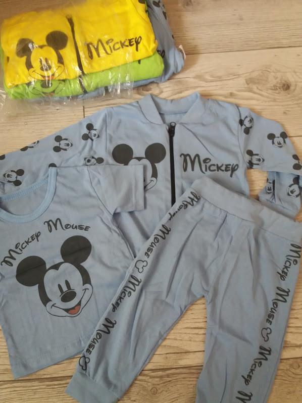 Спортивний костюм трійка MIKI для хлопчиків 74-80,86-92,98-104,110-116