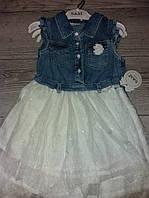 Плаття джинсове з мереживою спідницею 92,98,104,110 Туречина