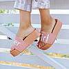 РОЗМІРИ 36, 38 Super Girl рожеві на танкетці Шльопанці на платформі пудрові тапочки жіночі шльопанці, фото 4