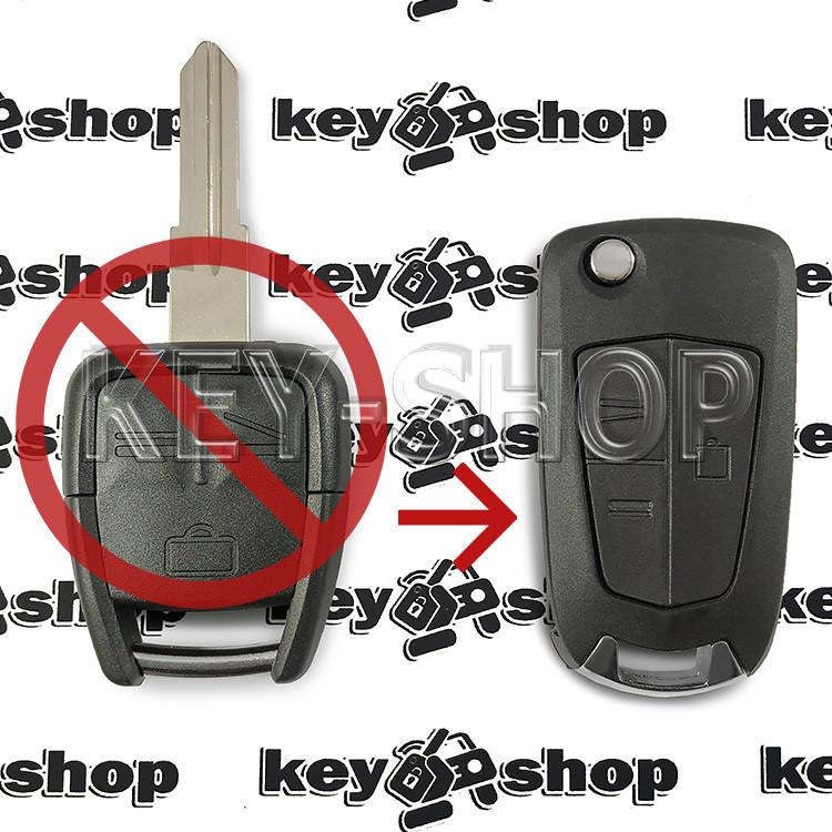 Корпус выкидного ключа для Opel (Опель) 3 - кнопки, лезвие HU46P (под переделку)