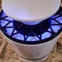 [АКЦИЯ] Лампа-ловушка для комаров Mosquito Killer Lamp (уничтожитель насекомых) от USB белая (живые фото), фото 2