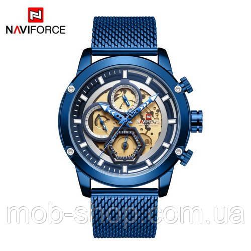 Наручные часы Naviforce NF9167 All Blue Годовая гарантия на механизм Оригинал