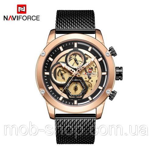 Наручные часы Naviforce NF9167 Black-Cuprum Годовая гарантия на механизм Оригинал