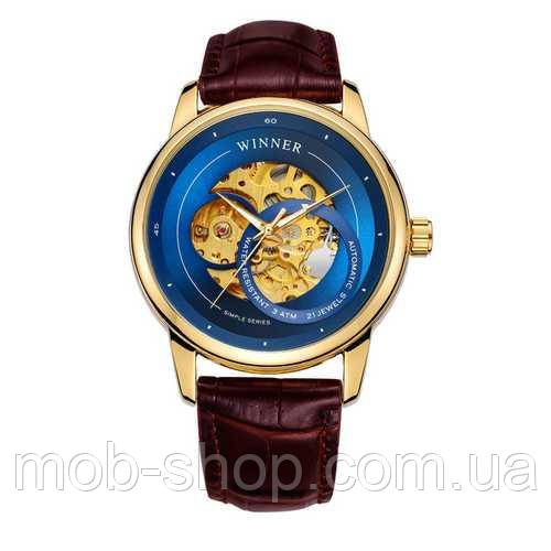 Наручные часы Winner 339 Gold-Blue-Brown оригинальные часы