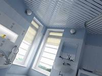 Комплект реечного потолка Alubest металлик 135мм + супер-хром 2х1,5м