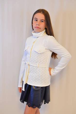 Красивая нарядная недорогая трикотажная  кофточка для девочки с длинным рукавом ., фото 2