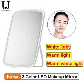 Зеркало Xiaomi MiJia Jordan & Judy Tri-color NV505 для макияжа с подсветкой сенсорное 2400 мАч!Новинка!