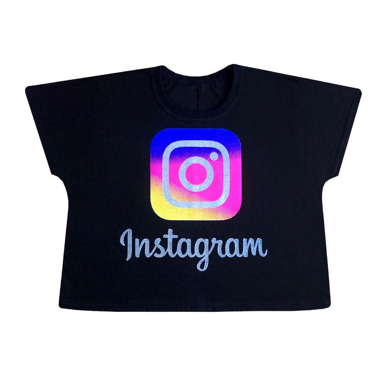 Кроп топ футболка для дівчинки Instagram 7-12 років.