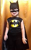 Детский карнавальный костюм для мальчика Бэтмен от 3 лет, фото 1