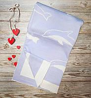 """Детский легкий Плед одеяло  """" Дельфины """" для новорожденного в роддом 100*85 в кроватку, коляску"""
