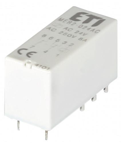 Реле промежуточное ETI MER2-230AC 2P 230V AC 8А 2473034 (электромеханическое)