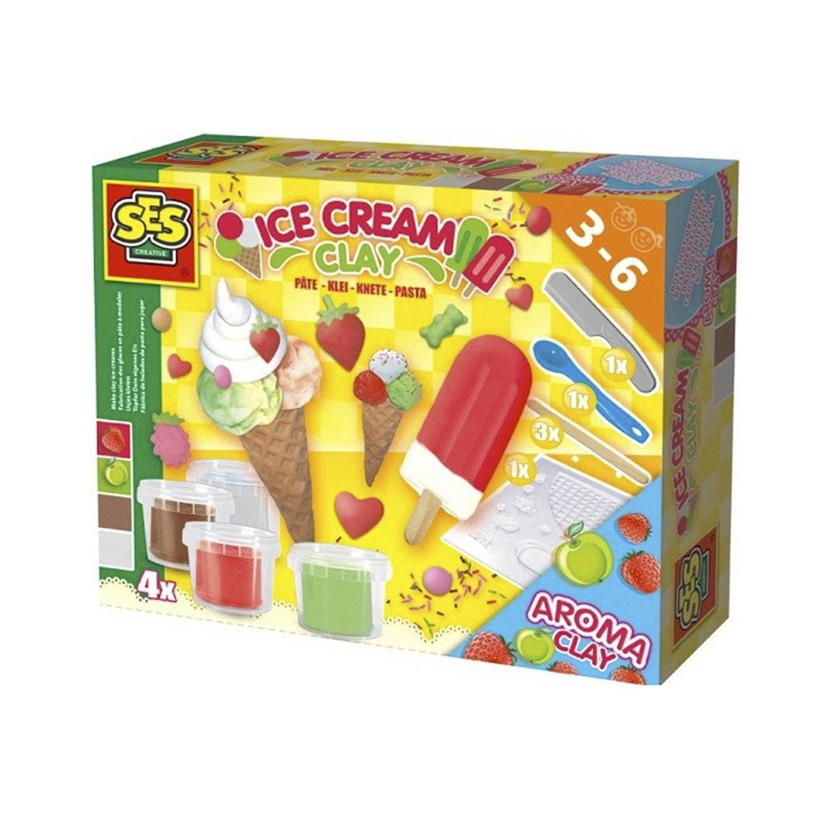 SES creative Незасыхающая масса для лепки - Мороженое, 4 цвета, 0444S