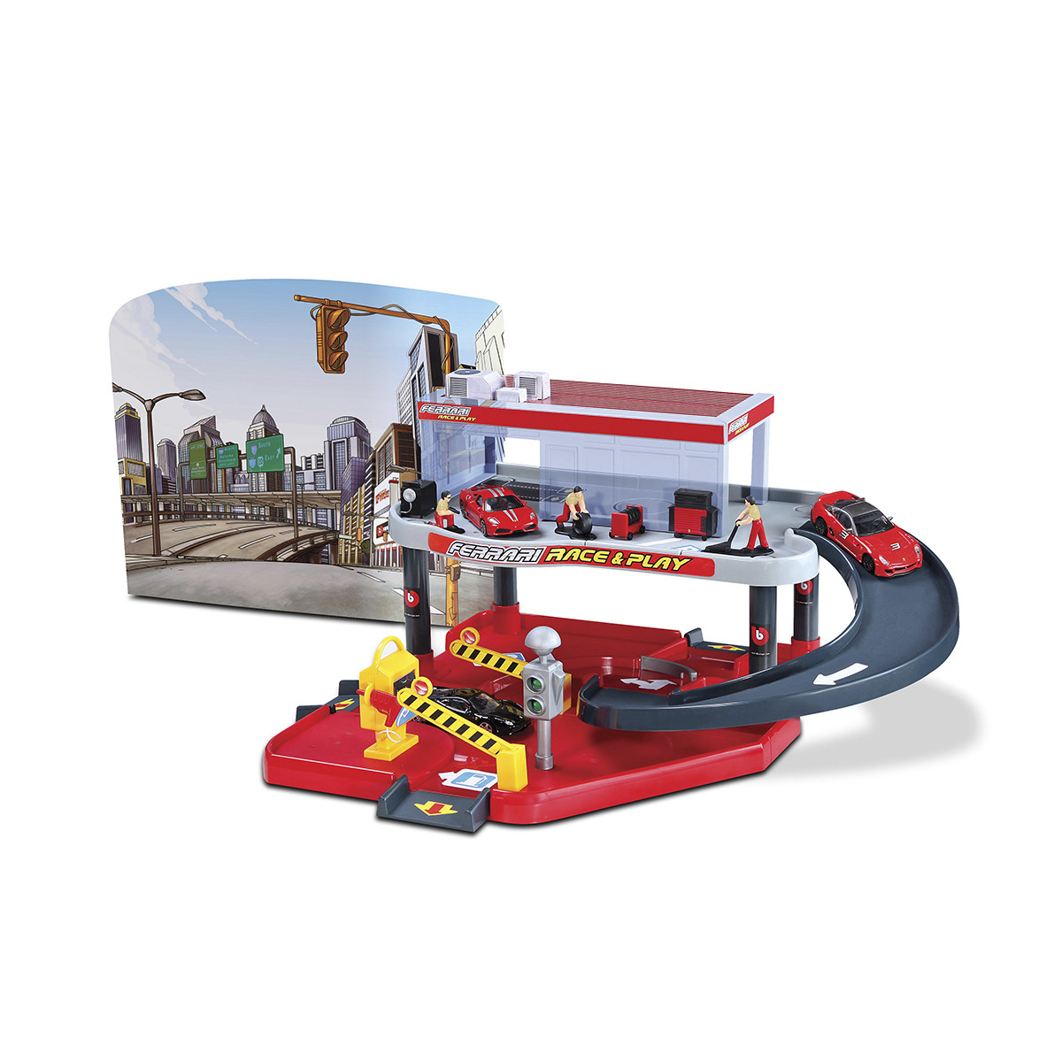 Bburago Игровой набор Гараж Ferrari, 1:43, 18-31231