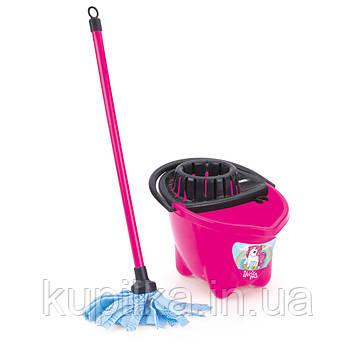 Іграшковий набір для прибирання UNICORN з відром та шваброю розовое (2557) розовое
