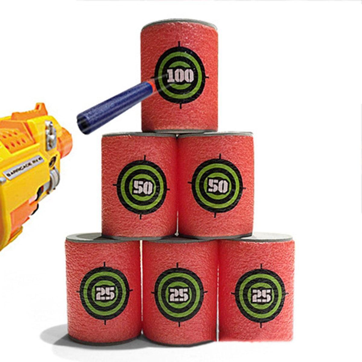 Набор поролоновых мишеней 18 шт для игрушечного оружия, высота 6 см