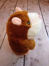 Говорящий хомяк повторюшка детская интерактивная мягкая игрушка повторюша +БАТАРЕЙКИ! Настоящие фото, фото 3