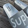 Super Girl серебряные на танкетке Шлепки на платформе тапочки тапки женские пляжные шльопанці срібні, фото 2