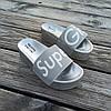 Super Girl серебряные на танкетке Шлепки на платформе тапочки тапки женские пляжные шльопанці срібні, фото 5