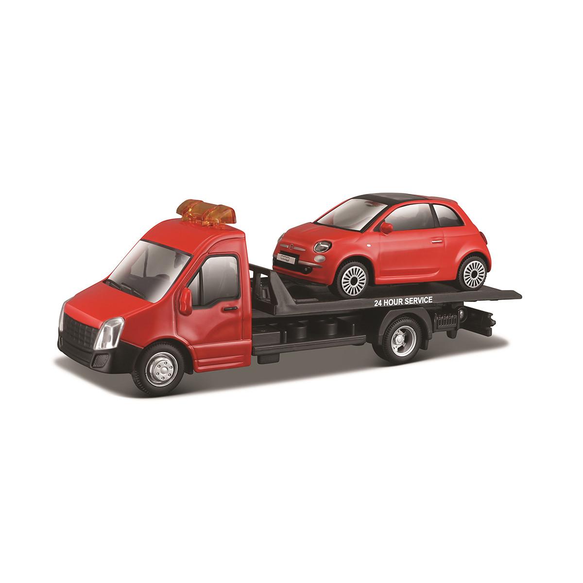 Bburago Игровой набор Автоперевозчик с автомоделью Fiat, 18-31402