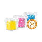 Незасыхающая масса для лепки - ЕДИНОРОГИ (3 цвета с блестками, в пластиковых баночках, аксессуары), фото 4
