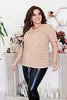 Красивая женская блуза с принтом до 56 размера