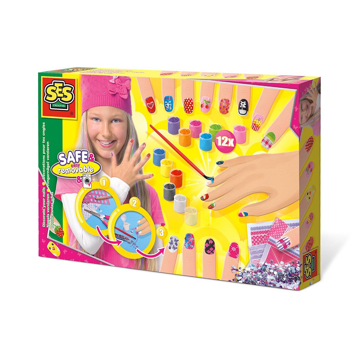SES creative Игровой набор для юного нейл-арт мастера - Модница, 014975S