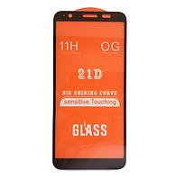 Защитное стекло 21D Full Glue для Asus Zenfone Live L2  (ZA550KL) черное 0,3 мм в упаковке
