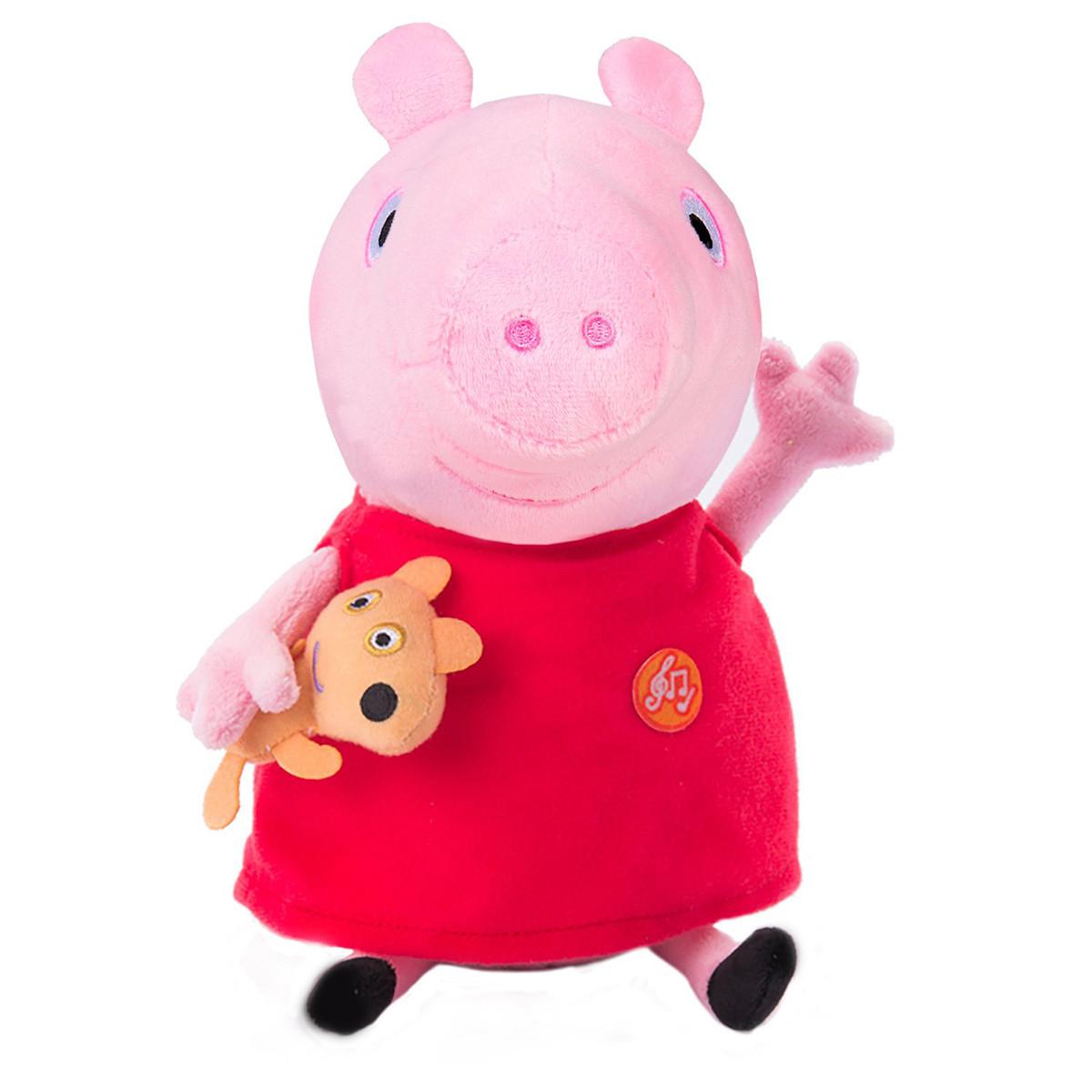 Peppa Мягкая озвученная игрушка - Пеппа с игрушкой, 30 см, 30117
