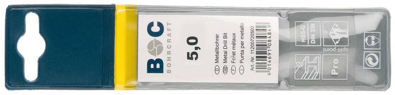 Сверло 3.2х65 по металлу (Co 5) Bohrcraft