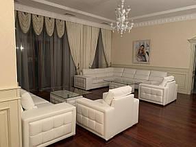 Комплект мягкой мебели - диван угловой, диван прямой, два кресла и два столика (Мебель-Плюс TM)