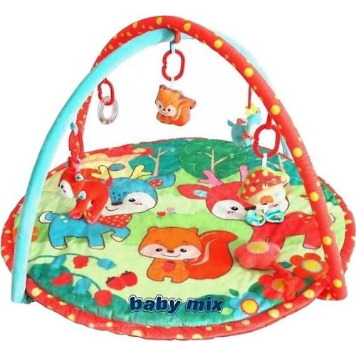 Дитячий ігровий розвиваючий килимок Baby Mix TK/3423PP Олень і друзі