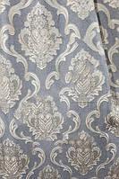 Ткань для пошива штор Лен Версаль серый+латте