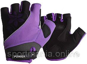 Велоперчатки женские PowerPlay 5281 D Фиолетовые XS