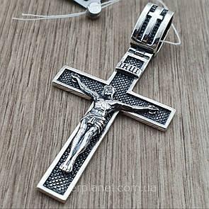 Массивный серебряный крестик. Мужской православный крест из серебра 925